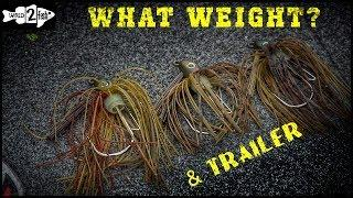 How to Choose the Right Bass Jig Weight and Trailer