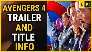 Avengers 4 Trailer & Title Release Date Info In Hindi