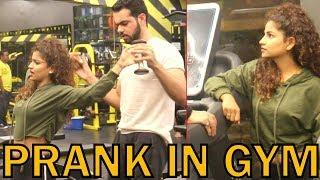 GYM PRANK BY HOT GIRL | PRANK IN INDIA | BY VJ PAWAN SINGH
