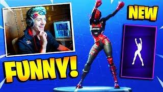 NINJA REACTS TO *NEW* TRUE HEART DANCE/EMOTE! - BEST Funny & INSANE Moments! - (Fortnite BR)