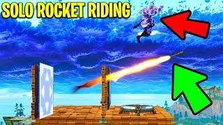 Fortnite SOLO ROCKET RIDING in PLAYGROUND 2.0! (Fortnite Funny Moments)