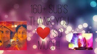 Thank you for 160+ subs | Thank u so much YouTube | Radhakrishn soundtracks |