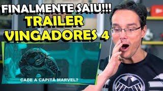 CARACA!!! QUE TRAILER IRADO, VOCÊS VIRAM QUEM SAIU? React Trailer Vingadores 4 End Game
