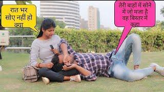 Sleeping prank on cute girls   Delhi girls reaction  super duper se upper