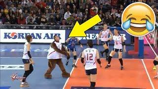 MASCOT PLAY VOLLEYBALL !? Funny Volleyball Videos (HD)