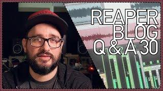 REAPER Blog Q&A #30 - fave game soundtracks; getting healthier and more