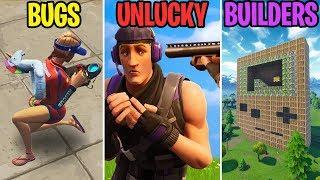 BROKEN SPINE GLITCH! BUGS vs UNLUCKY vs BUILDERS - Fortnite Battle Royale Funny Moments