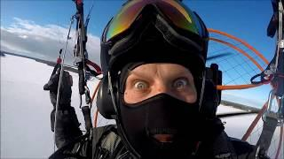 Winter powered paragliding 2018