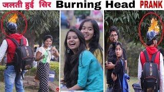 Burning Head (Jalta Hua Sir) Prank in India|1st Time Ever|Epic Reactions |Giveaway| FunkyTv|
