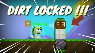 Put DIRT LOCKED OMG ???? | GROWTOPIA FUNNY | DARES
