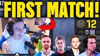 SHROUD FIRST GAME WITH NEW TEAM! (FUNNY MOMENTS, 1 TAPS, TK & MORE)