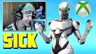 Ninja Reacts To *Leaked* Xbox Exclusive skin! Fortnite Op & Funny Moments