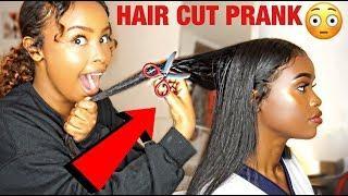 I CUT MY SISTERS HAIR PRANK!!! (SHE CRIES????????)