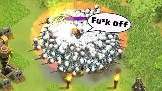 Clash of Clans Funny Moments Trolls Compilation #26 | COC Montage