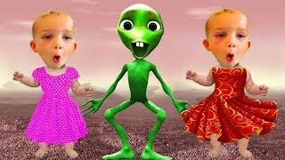 Wrong Dress Vlad Kids Funny Alien Dance Dame Tu Cosita Dance Learning Video