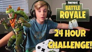 FORTNITE 24 HOUR CHALLENGE! (EPISODE 1)