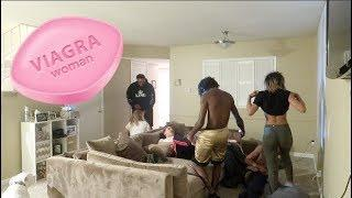 FEMALE V.I.A.G.R.A PRANK ON 3 GIRLS AT ONCE!! (NEVER BEEN DONE}