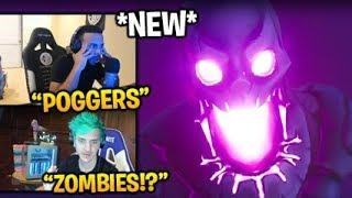 Streamers React to *NEW* FORTNITEMARES EVENT TRAILER (ZOMBIES in BR) Fortnite