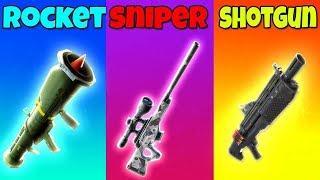 ROCKET vs SNIPER vs SHOTGUN - Fortnite Battle Royale! (Fortnite Funny Fails and Best Moments) #214