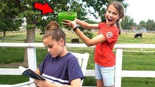 SLIME PRANK ON MY SISTER!! | How to Make Super Messy Slime!!
