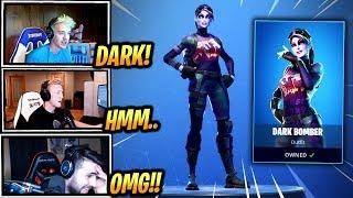 STREAMERS REACT TO *NEW* DARK BOMBER SKIN! - Fortnite Epic & Funny Moments (Fortnite Battle Royale)