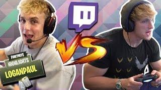 LOGAN PAUL VS JAKE PAUL FORTNITE BATTLE! (WHO'S THE BEST?) FUNNY VIDEOS & FAILS