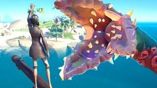 HUNTING THE KRAKEN Sea Of Thieves - Funny WTF Highlights Moments #4