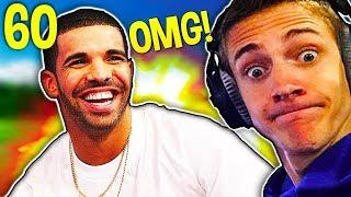 DRAKE donated 5000$ to NINJA! Fortnite Daily Best Funny Moments 60 (Fortnite Battle Royale)