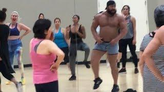 300 LB BODYBUILDER TAKES OVER ZUMBA CLASS PRANK