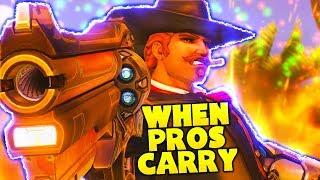 How The PROS Carry... (UNBELIEVABLE PLAYS) - Overwatch Funny Moments and Best Plays 66