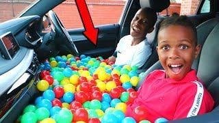 CAR BALL PIT PRANK ON MY MOM!! *5000 BALLS*
