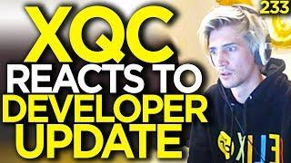 xQc Reacts to Developer Update - Overwatch Funny Moments 233