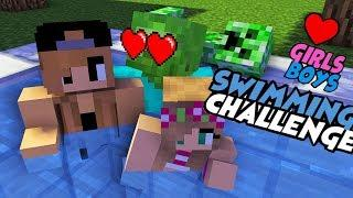 MONSTER SCHOOL : FUNNY SWIMMING CHALLENGE - BEST MINECRAFT ANIMATION