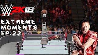 WWE 2K18 Extreme Moments Ep.22 (Featuring Stairs Glitch & Japanese Table Glitch )