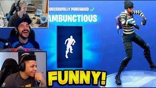 STREAMERS REACT TO NEW DANCES *RUMBUNCTIOUS* | Fortnite Funny Fails & Best Moments (Battle Royale)