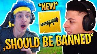NINJA & MYTH TRY *NEW* GUIDED MISSILE LAUNCHER - FORTNITE BEST FUNNY MOMENTS