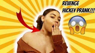 REVENGE HICKEY PRANK ON BOYFRIEND!!! (He Cries)
