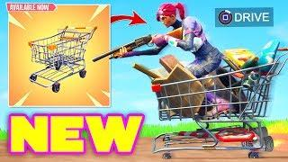 *NEW* SHOPPING CART GAMEPLAY INCOMING! (Fortnite Battle Royale) Fortnite Epic & Funny Moments #173
