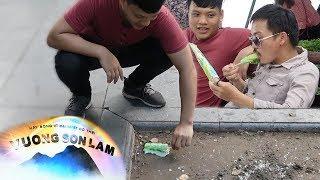 Troll nhặt kem dưới đất đưa bạn thân ăn... | Cream Prank by Vương Sơn Lâm