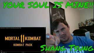Shang Tsung TRAILER REACTION Mortal Kombat 11 Kombat Pack