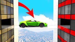 INVISIBLE BRIDGE CROSS CHALLENGE! (GTA 5 Funny Moments)