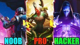 NOOB vs PRO vs HACKER - Fortnite Battle Royale Funny Moments! #97