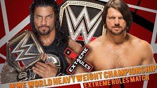 WWE Raw Roman Reigns vs Aj styles Extreme Rules Highlights!