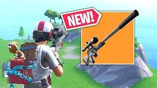 New Suppressed Sniper Rifle is OP! Fortnite Op & Funny Moments