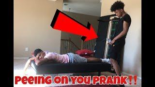 PEEING ON TRAY PRANK!!!