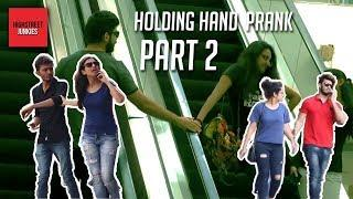 Holding People's Hand Prank part 2 | Touching Stranger's hand on Escalator | Pranks in India