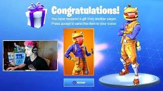 Epic Games Gifts Ninja *NEW* Beef Boss Skin! - Fortnite Funny Fails & WTF Moments #274
