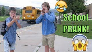END of school PRANK! Bringing our COUSIN to SCHOOL! | Brock and Boston