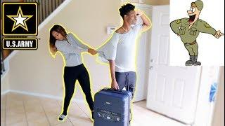 I'M JOINING THE ARMY PRANK ON GIRLFRIEND!!! (SHE GETS MAD)
