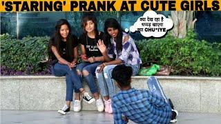 STARING AT CUTE GIRLS PRANK | Awesome Reactions | prank in india |Jaipur tv | Prank Gone Wrong |